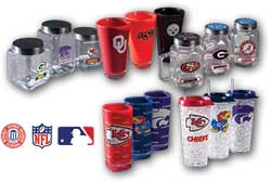 College MLB & NFL Drinkware