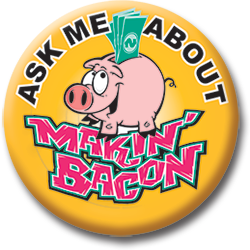 makin bacon Button